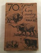 70 Years Cow Country Wyoming Stock Growers Association Book By Agnes Spring 1942