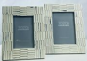 Tozai Home Ridges Set Of 2 Photo Frames - Includes 2 Sizes 4 X 6 And 5 X 7