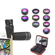 10 In 1 Mobile Phone Fish Eye+wide Angle+macro Camera Lens For Iphone Samsung