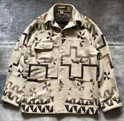 Leopard Pattern Windmill Native Rug Jacket Vintage Polo Country F/s
