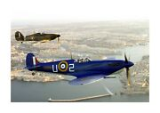 Spitfire And Hurricane Over Valetta Malta 4 A4 Poster With Choice Of Frame