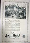 Antique Print Ref.929 1923 Advertisement John Haig Clubmanand039s Scotch Whisky