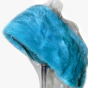 Dolce And Gabbana Double Faced Scarf Blue 100 Mink Fur Stole Wrap Vintage 90s