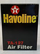 Havoline Ta-127 Air Filter Texaco Lubricants Company Made In Usa Fast Ship