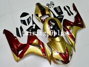 Gold Metallic Red Abs Injection Plastic Fairing Kit Fit For Cbr1000rr 2006 2007