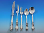 Old Charleston By International Sterling Silver Flatware Set Service 44 Pieces