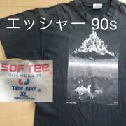 Mc Escher Castle In The Sky T-shirt 1990s Vintage Size Xl F/s From Japan