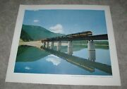 Old 1950and039s Northern Pacific Railroad Western Montana Diesel Freight Train Poster