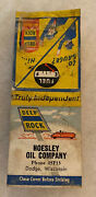 Dodge Wi Wisconsin Hoesley Oil Deep Rock Matchbook Cover Gas Fuel Auto