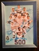 500 Hr Signed Framed Photo 11 Autos Mickey Mantle Ted Williams Hank Aaron Jsa
