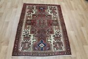 Old Hand Made Persian Rug From The Greater Hamedan Region 140 X 100 Cm
