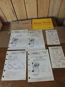 Lot Of Lincoln Quick-check Auto Tune-up Diagnostic Instruction Manual And Guides