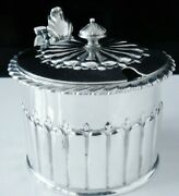 Large Antique Sterling Silver Mustard Pot London 1797 George Gray