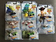 Hot Wheels Toy Story 4 Character Car Complete Set Of 8 Woody Buzz Forky Rex Duke