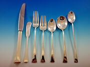 Tranquility By International Sterling Silver Flatware Set For 8 Service 60 Pcs
