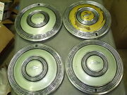 Hub Cap Set Chevrolet Chevy Orig Offered On 1970 70 Caprice Monte Carlo 15