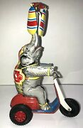 Circus Elephant Wind Up Vintage Made In Us Zone Germany Does Not Work