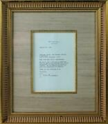 Bill Clinton Authentic Signed 1994 White House Letter Framed Psa/dna W03179