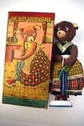 Busy Housekeeping Bear 1950's Alps Co. Toy