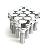 16x 12x1.25 Acorn Chrome Conical Cone Seat Wheel Lug Bolts 40mm Shank Extended