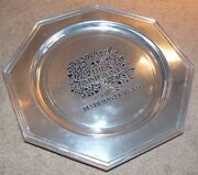 Wilton Columbia The Immigrant Restaurant And Winery Pewter Plate Charger Octagonal