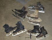 5 Different Styles Antique Ice Skates Fun Decorating Figure And Speed Skating