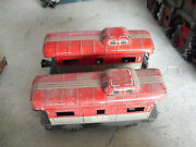 Lot Of 2 Vintage 1950s O Scale Worn Marx Tin Nyc 20102 Caboose Cars