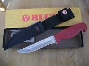 Rare 2005 Case Ruger Fixed Blade Knife Never Used In Box Lt265-5 Ss Red