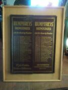Humphreys 2-sided Remedies Menu On A Board 77 With Numbered Drawer