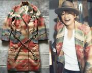 Colorado Native Pattern Long Coat Size S F/s From Japan