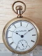Antique Elgin Gold Plated Pocket Watch Size 18s Serial4846377