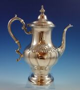 Chantilly By Gorham Sterling Silver Coffee Pot Countess Hand Chased 2350
