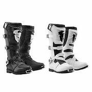 Thor Mx/atv Ratchet Boots Mens Black And White Motorcross Off Road