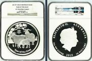 2015 Lunar Year Of The Goat 1 Kilo Proof Silver 30 Ngc - Pf70 Ultra Cameo