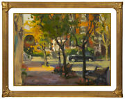 Kevin Macpherson Original Painting Oil On Board Signed Cityscape Framed Artwork