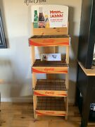 Coca Cola Coke 4 Tier Wooden Advertising Store Display Stand Rack Pick Up Only