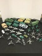 Huge Plastic Army Toy Soldier Lot With Vehicles And Aircraft Vintage