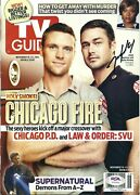Taylor Kinney Signed Tv Guide Magazine Chicago Fire Psa Ah20632