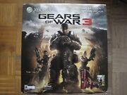 Microsoft Xbox 360 S Gears Of War 3 Limited Edition 320gb Red Black Console New
