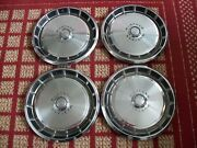1971-1973 Ford Mustang, Set Of Four 14 Oem Hubcaps