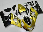 Black Gold Abs Injection Fairing Kit Fit For 2004 2005 Gsxr600 Gsxr750 Cowl