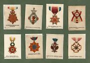 Tobacco Cigarette Cards Set Orders Of Chivalry 1920 Set Of 50 Silk