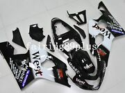 White Black West Abs Injection Fairing Kit Fit For 2004 2005 Gsxr600 Gsxr750
