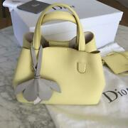 Dior Exclusive In Japan Blossom Yellow Hand Bag From Japan F/s