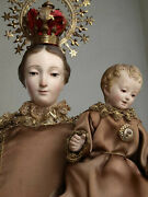 Scapular Of Our Lady Of Mount Carmel Cage Doll Spanish Colonial Santos Antique