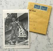 Early Alan Shepard Signed Autograph Magazine Clipping Picture Nasa Space 1962