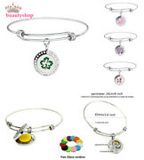 Stainless Steel Bling Adjustable Bangle Aroma Essential Oil Diffuser Locket