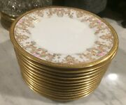 Vintage W.g. And Co. William Guerin And Company Limoges Dessert Plates