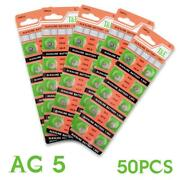Hot Selling 50pcs Ag5 393a Lr48 Ee6241 Batteries Coin Cell Button 1.55v 399