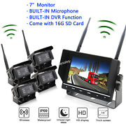 Wireless Backup Camera System With 7 Quad Lcd And 2 3 Or 4 Cam Options Truck
